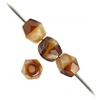 Fire Polished 4mm Opaque Light Brown